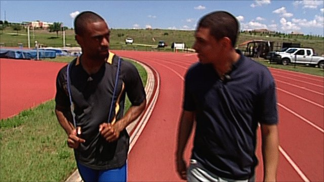 Tyson Gay meets Leon Mann