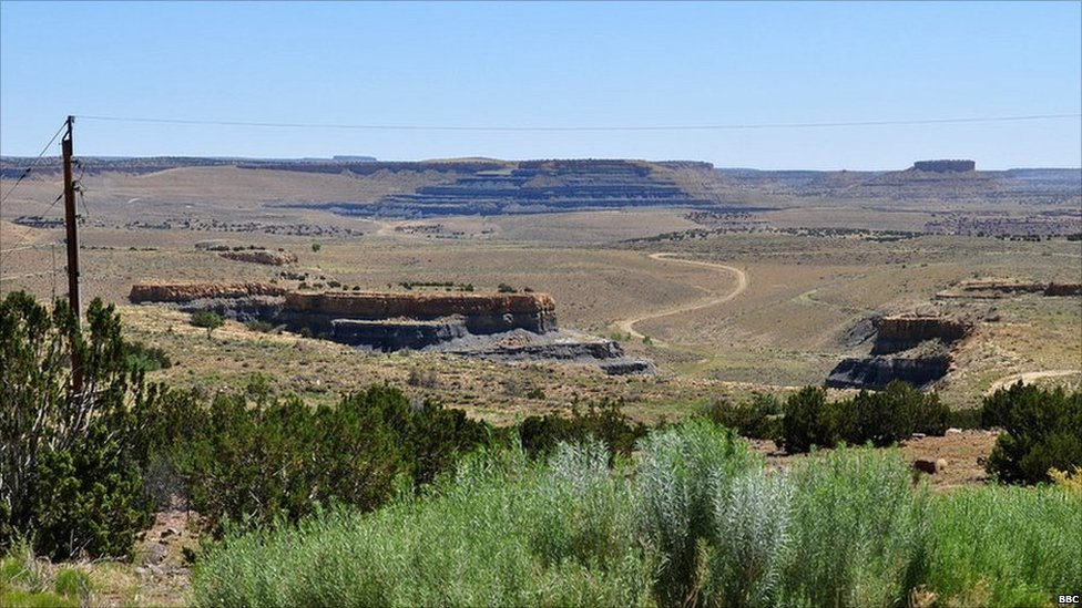 The Jackpile mine on the Laguna Indian reservation