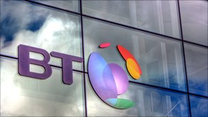 BT logo on building