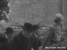 Winston Churchill in Moreton in 1935