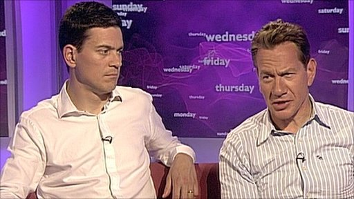 David Miliband and Michael Portillo