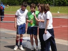 School Reporters at Lurgan Junior High School's sports day