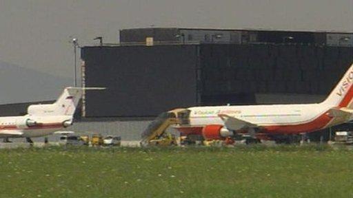 Planes at Vienna airport