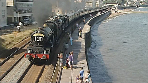 Steam train at Dawlish