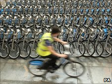 Bikes for London's new rental scheme