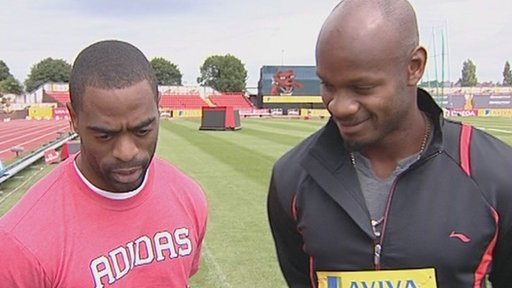 Tyson Gay and Asafa Powel