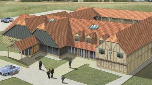 Artist's impression of Isleham's new church