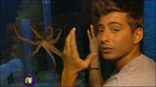 Ricky with Winston the octopus