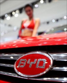 BYD car at Beijing's auto show