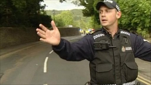 Policeman in Rothbury