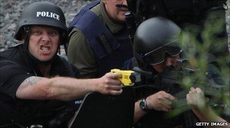 Police at Rothbury