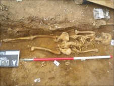 One of the skeletons