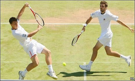 Great Britain's Ken Skupski (left) and Colin Fleming
