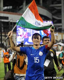 Indian national football team captain Bhaichung Bhutia
