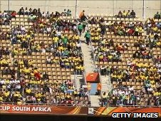 Empty seats at a South Africa World Cup game