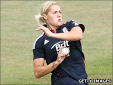 England's Katherine Brunt was player of the match