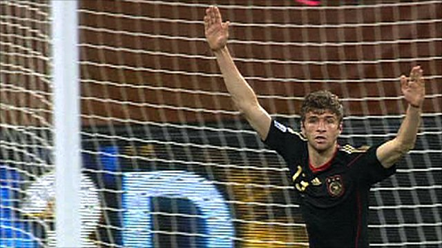 Thomas Mueller provides a cool finish to give Germany an early lead