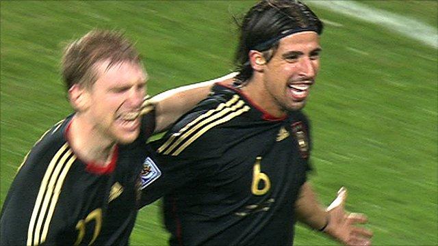 Sami Khedira celebrates his winner