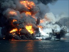 Deepwater Horizon blaze, 22 April