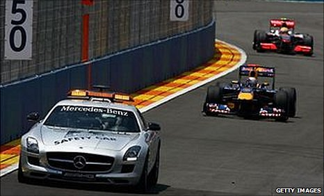 F1 safety car in Valencia