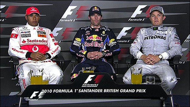 British Grand Prix - Top three drivers