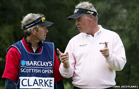 Darren Clarke and his caddy