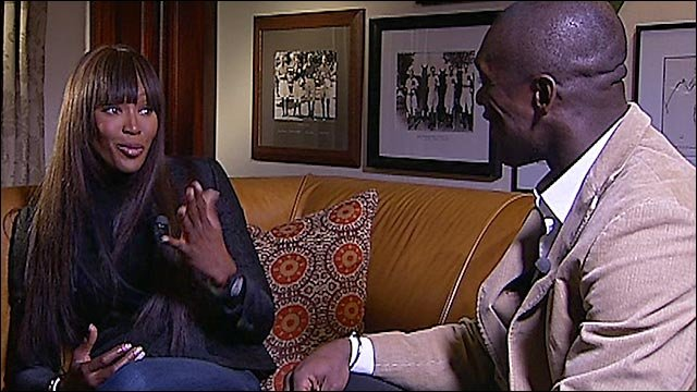 Clarence Seedorf meets Naomi Campbell