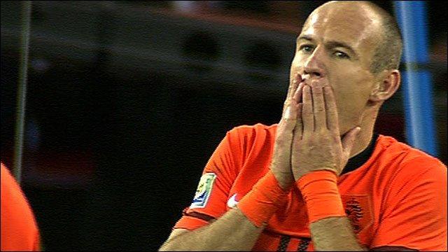 Netherlands' Arjen Robben