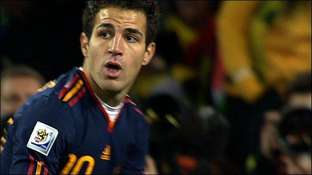 Spain's Cesc Fabregas