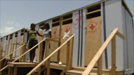Red Cross toilets in Haiti