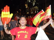 Spanish fan in Madrid