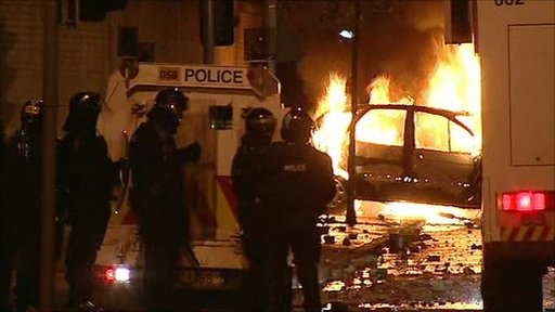 Rioting in Belfast