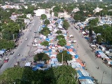 A refugee camp in Port-au-Prince, Haiti