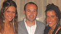 A female friend of Diana (right), Andres Iniesta and Diana from the Spain World Cup Photo Album