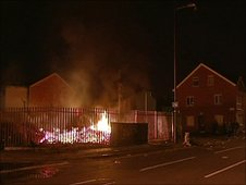 The injured people were attending a bonfire in the Village area of south Belfast