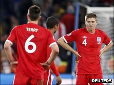 England&#039;s John Terry and Steven Gerrard
