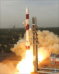 PSLV launch from the Sriharikota Spaceport in Andhra Pradesh (ISRO)