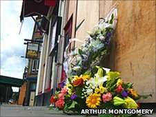 Floral tributes (Pic: Arthur Montgomery)