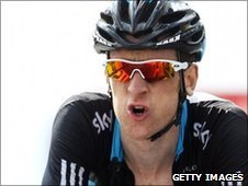 Bradley Wiggins found Sunday's category one climb up to Avoriaz tough
