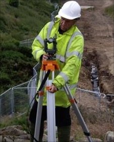 Surveyor at Tullos Hill (picture courtesy of Aberdeen City Council)