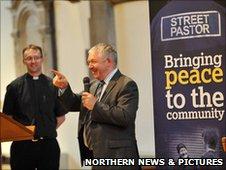Reverend Sandy Scrimgeour speaking at the Comissioning of Street Pastors at Sunderland Minster