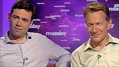 Andy Burnham and Michael Portillo