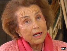 Liliane Bettencourt on French cable news channel LCI  2.7.10