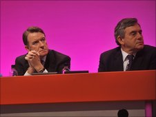 Lord Mandelson and Gordon Brown