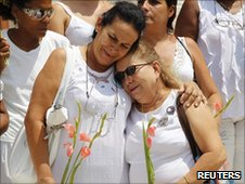 The Ladies in White during their weekly protest in Havana on 11 July 2010