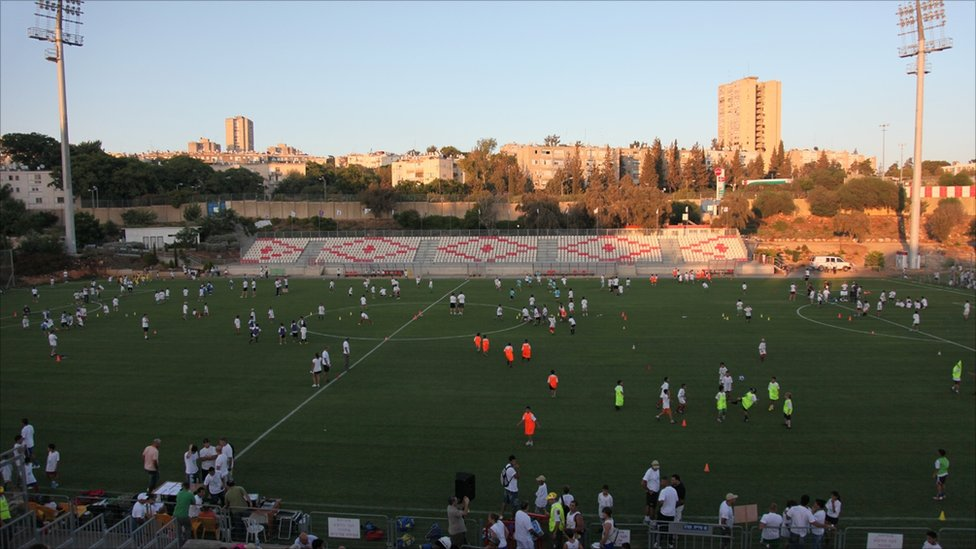 Stadium in Nazareth Elite, a Jewish town in northern Israel (Image: www.jenswenzel-photography.com)