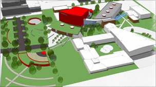 Artist's impression of a rebuilt St John Bosco School
