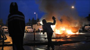 There was also overnight rioting in Belfast