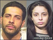 Heriberto Viramontes and Marcy Cruz have been charged with aggravated battery and armed robbery