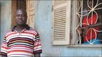 Police commandant Augusto Nhanga outside a detention centre in Bissau